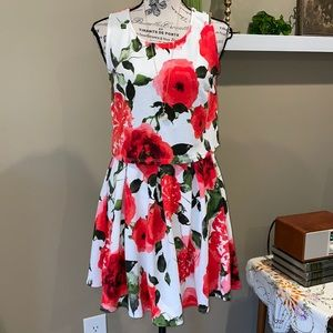 Aime floral print skirt and top